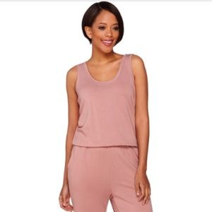 Logo lounge French terry jumpsuit